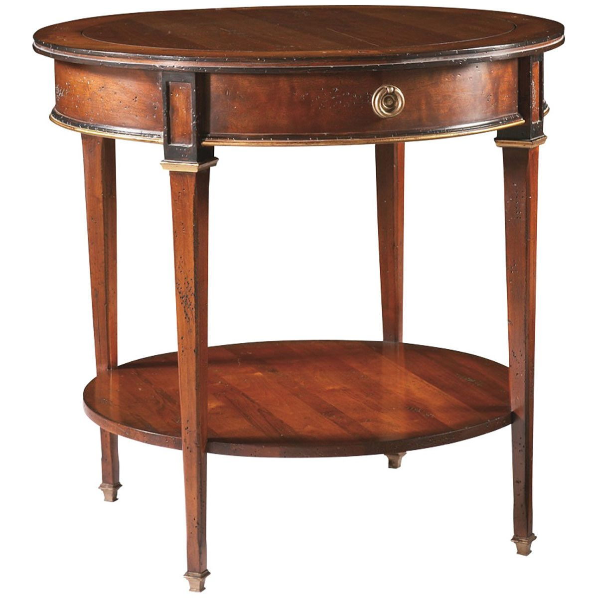 Cth Sherrill Occasional Round Lamp Table 730 930