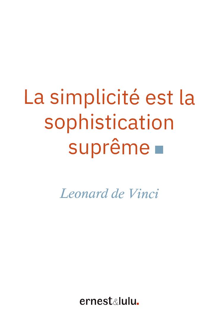 La Simplicité Est La Sophistication Suprême : simplicité, sophistication, suprême, Minimalisme, Citation, Leonard, Vinci,, Mouchoirs, Tissu,, Vinci