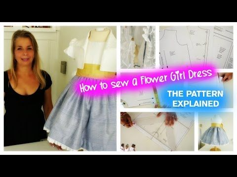 b517555f4188 How to sew a flower girl dress - The pattern explained - YouTube ...