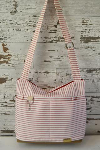2458bc76e0 scarlett - camera bag   Red   White Stripe