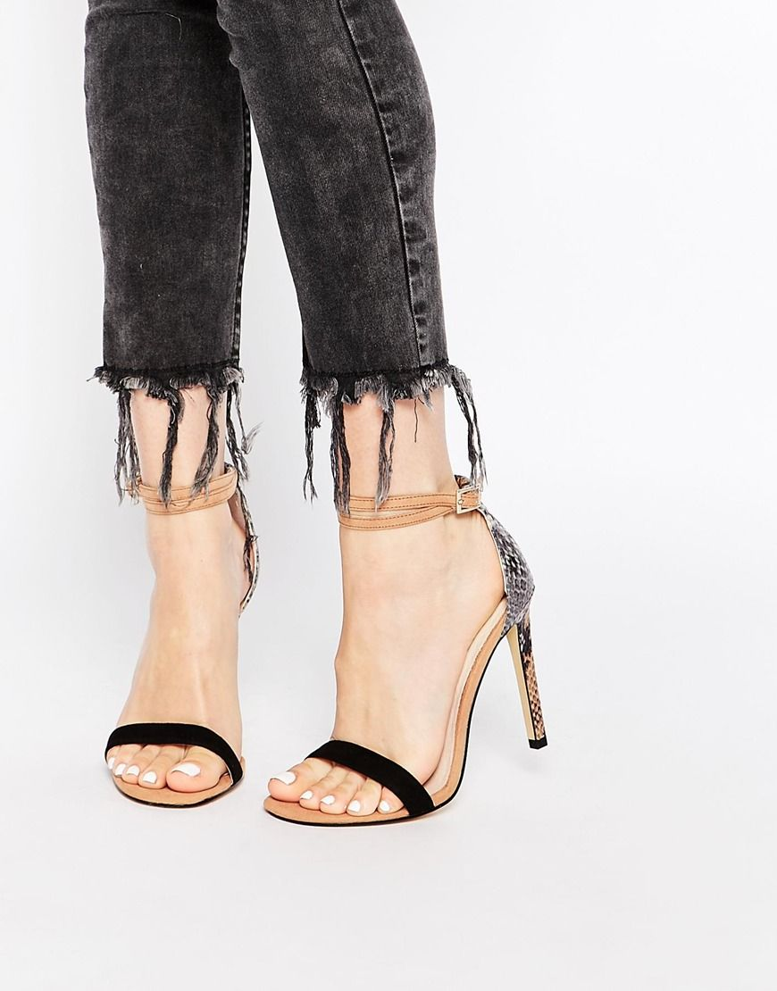 Buy Women Shoes / River Island Barely There Sandals With Snake Print