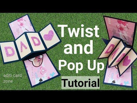 How To Make Twist And Pop Up Card Handmade Birthday Card
