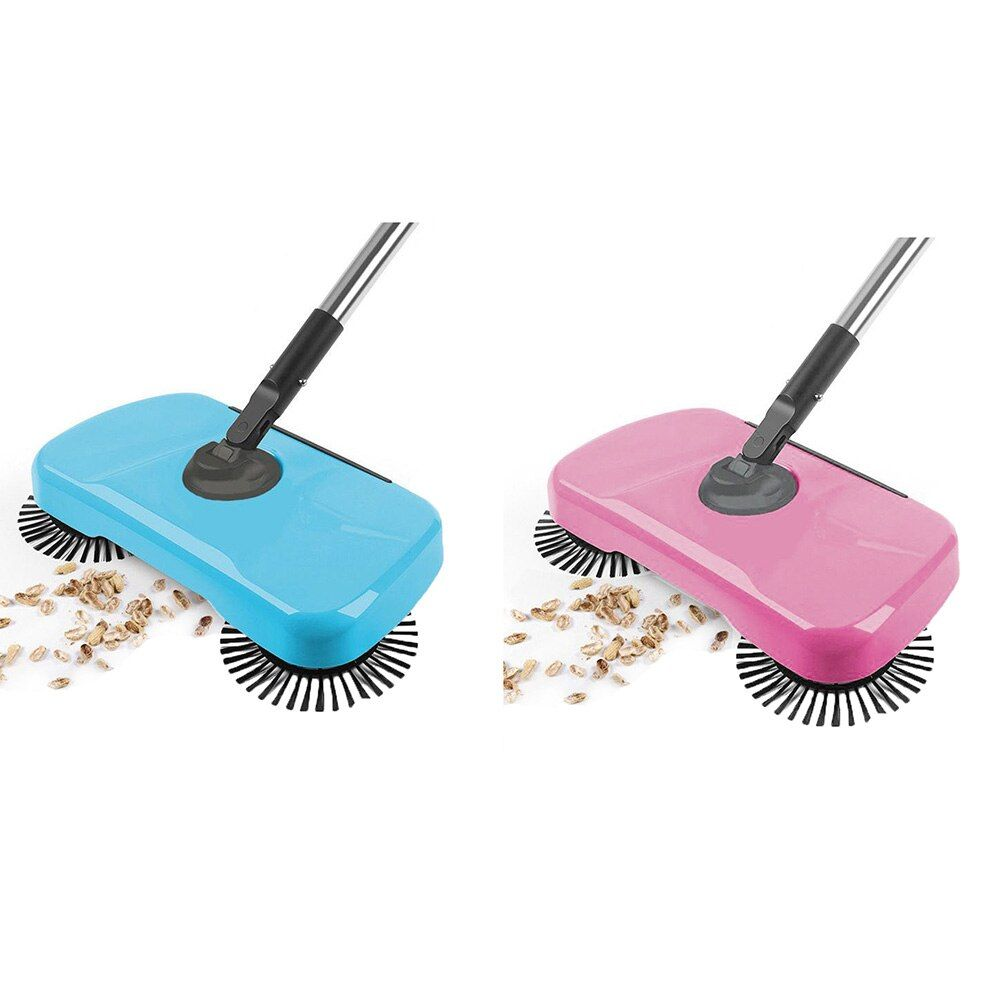 Magic Broom Dustpan Handle Household Cleaning Package Hand Push Sweeper Mop Stainless Steel Sweeping Machine Push Type Hand Push Di 2020