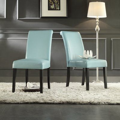 Alcott Hill Gault Parsons Chairs Color: Sky Blue