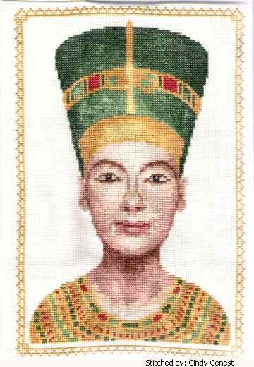 Nefertiti cross stitch pattern.