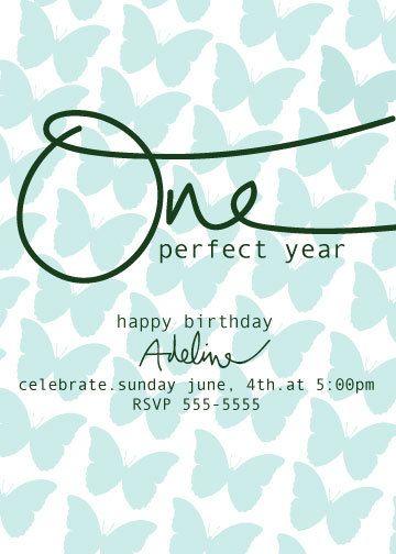 First Birthday Invitation St Birthday Invite Ecard PDF Digital - Birthday invitation ecards