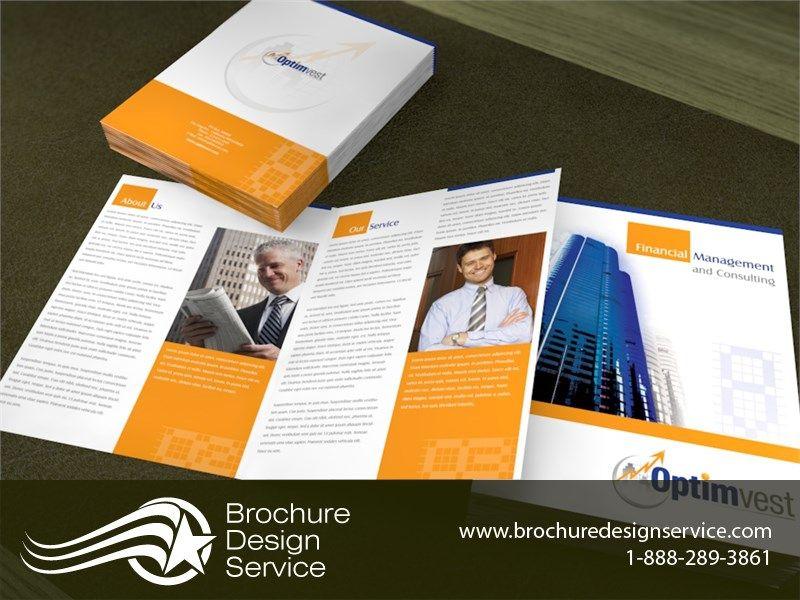 brochure design sample for financial company brochure designers