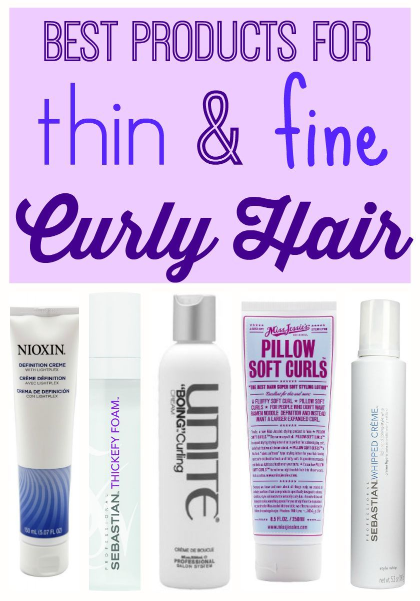 Best Products For Thin Fine Curly Hair With Images Thin