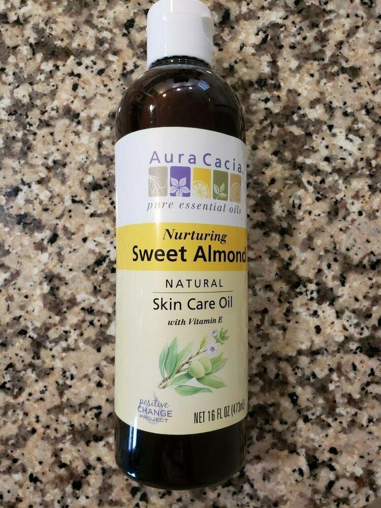 Aura Cacia Sweet Almond Natural Skin Care Oil Vitamin E Nurturing Sealed 16 Oz Almond Aura Cacia In 2020 Natural Oil Skin Care Natural Skin Care Oil Skin Care