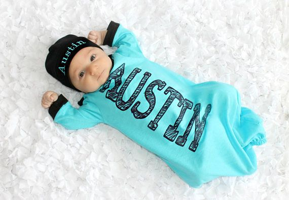 0e53b6c4e Personalized Baby Boy Clothes Custom Baby Gift Boy Outfits ...
