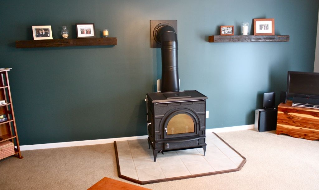 Installing A Free Standing Wood Stove Free Standing Wood Stove Wood Stove Hearth Pad