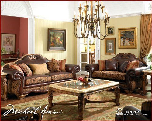 Aico Living Room Set Tuscano Ai 349 By Aico 6198 00 In The Tradition Of The Tuscany Region Of Aico Furniture Leather Living Room Set Living Room Collections