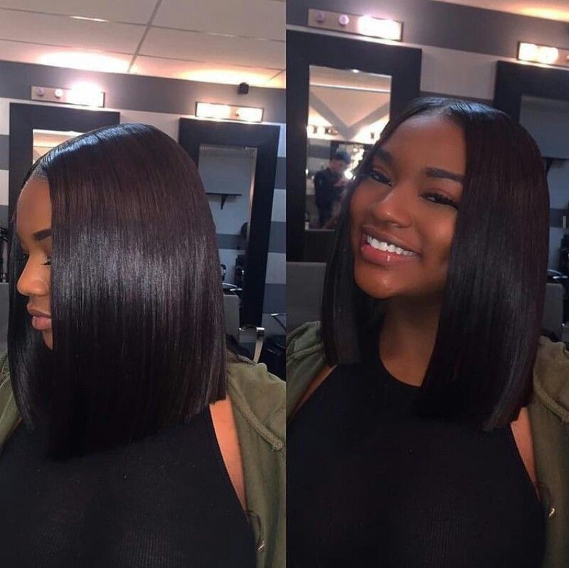 hair done by| @thebeautysphere middle part bob | Makeup & Nails ...
