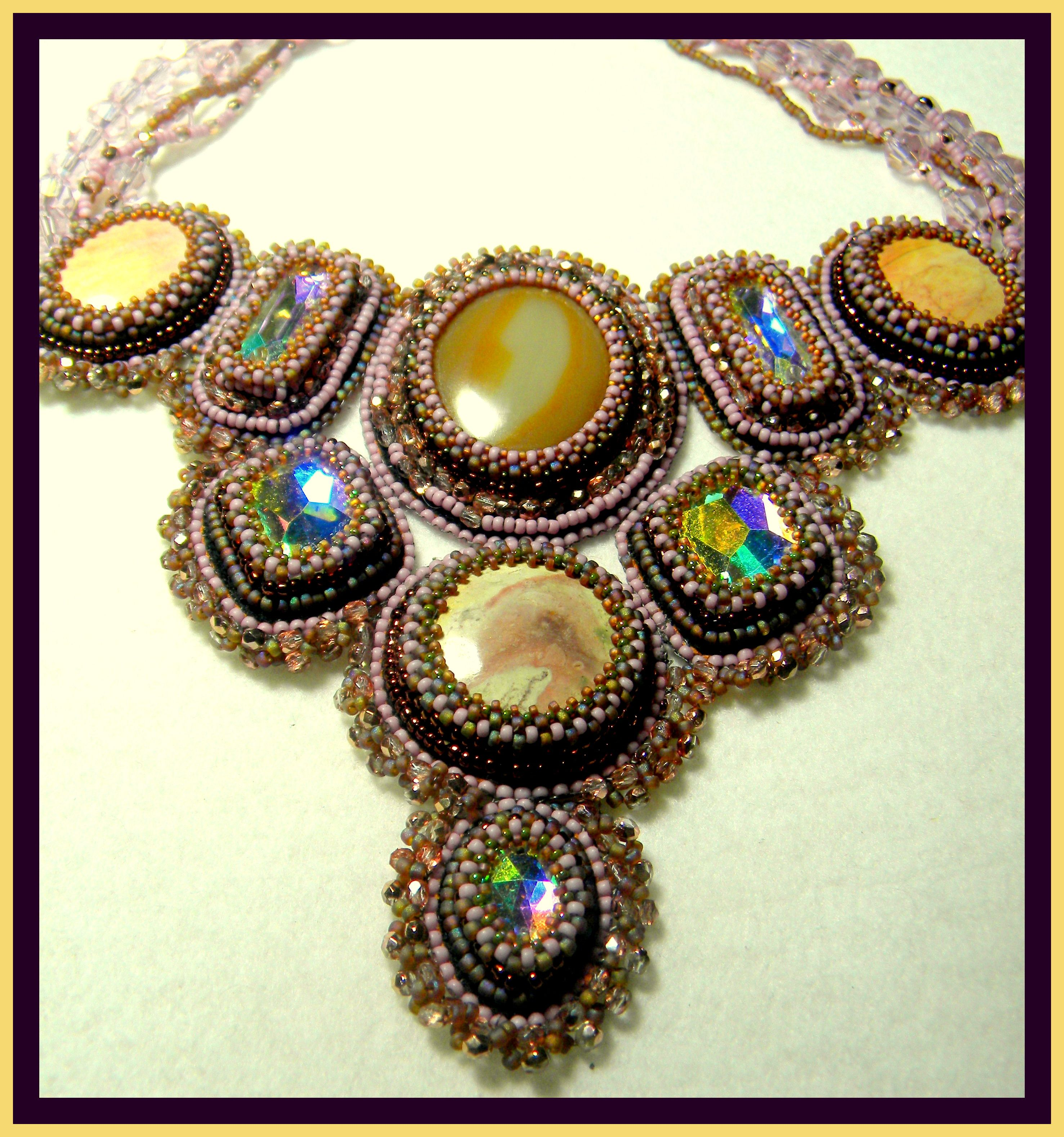 bead embroidered