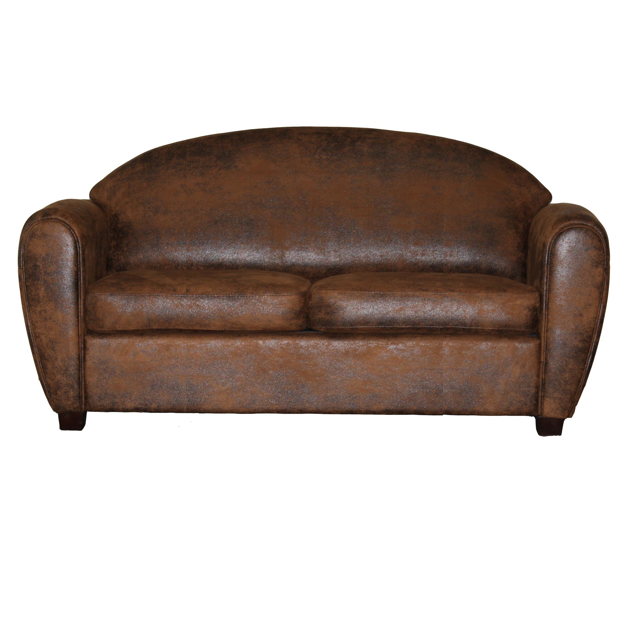 canap club convertible 3 places effet vieilli chocolat. Black Bedroom Furniture Sets. Home Design Ideas