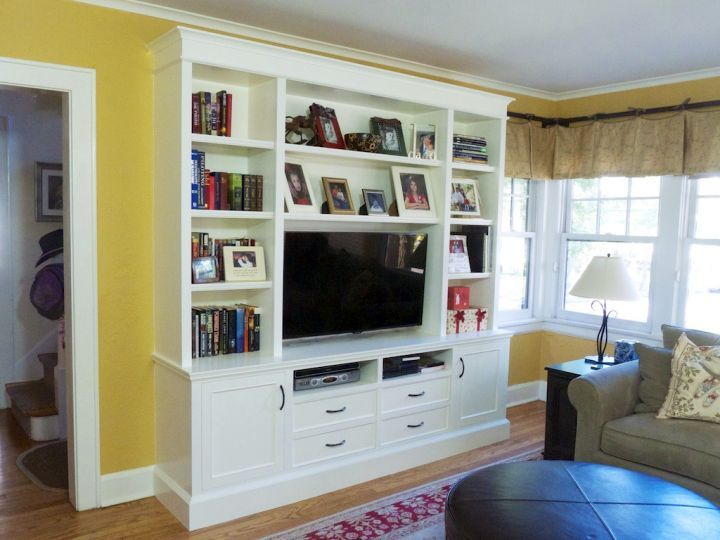 Built In Bookcase Tv Cabinet Large Living Room Google Search Built In Bookcases Pinterest