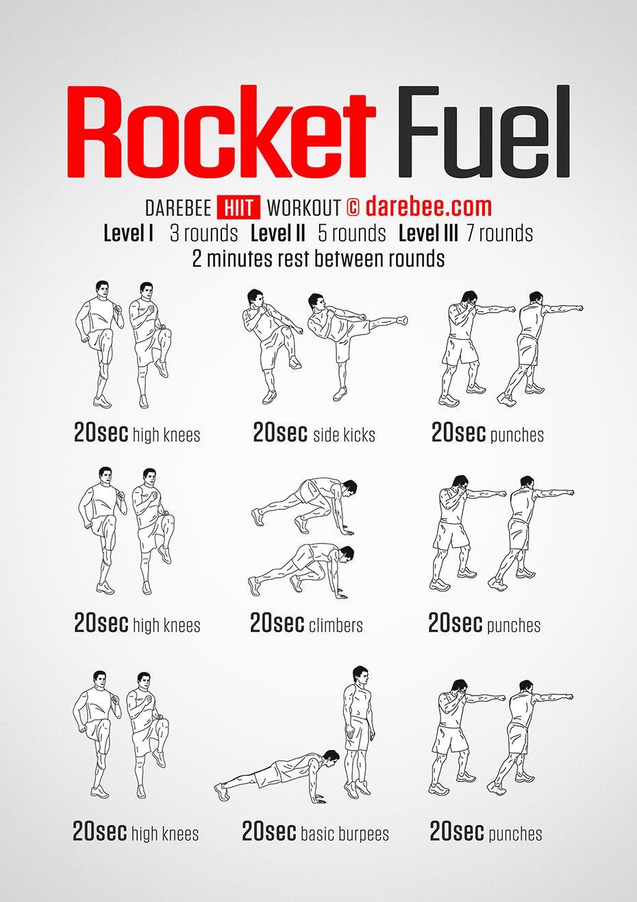 Rocket Fuel Workout Darebee Workout Bodyweight Workout