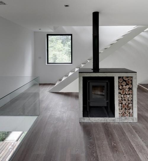 Nostalgische hout kachel in een interieur van nu interieur for Interieur van nu