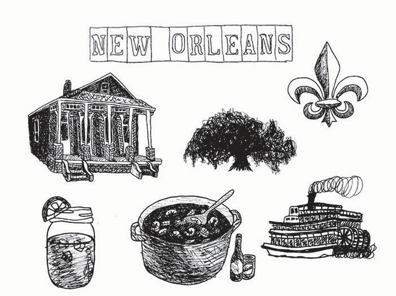 New Orleans Pattern Silhouette Projects New Orleans Pattern