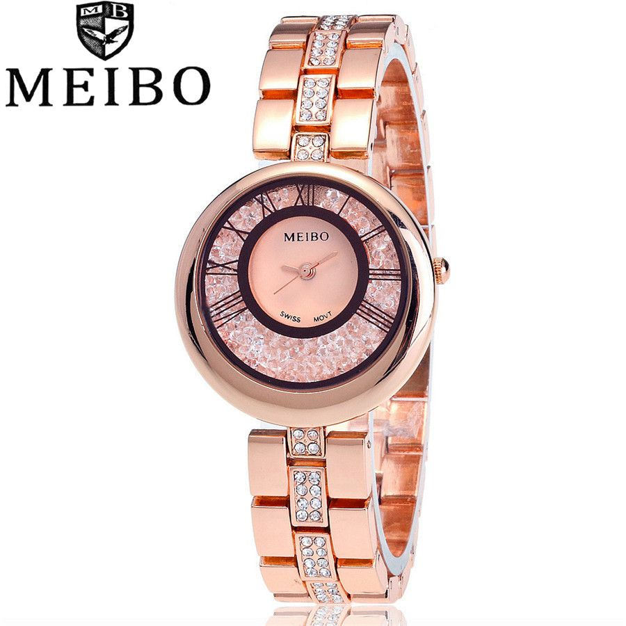 >> Click to Buy << MEIBO Brand Women Quartz Analog Watches Gold Stainless Steel Wristwatch Relojes Luxury Lady Watch 2058 #Affiliate