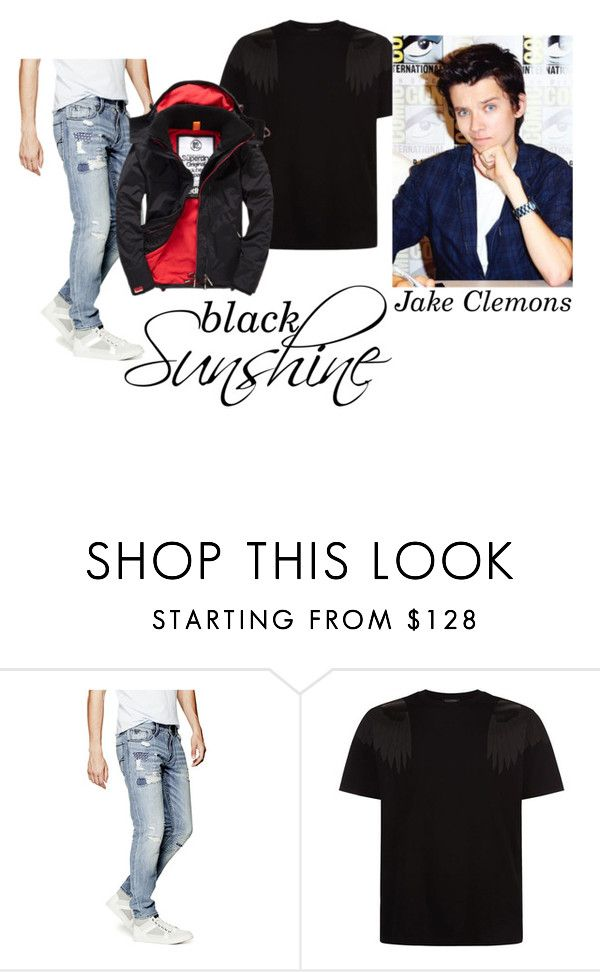 """Jake Clemons"" by haddie-harper on Polyvore featuring GUESS, Valentino, Superdry, men's fashion and menswear"
