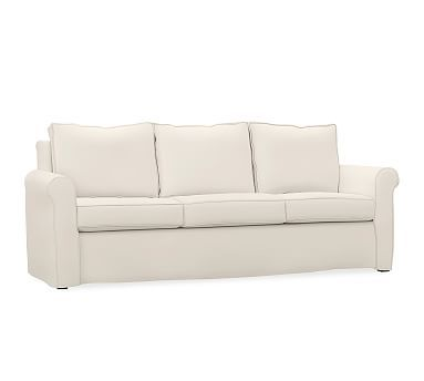 Cameron Roll Arm Slipcovered Grand Sofa 98 Polyester Wrapped
