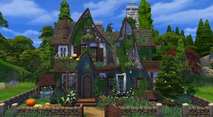 Check Out This Lot In The Sims 4 Gallery Witch Cottage Sims