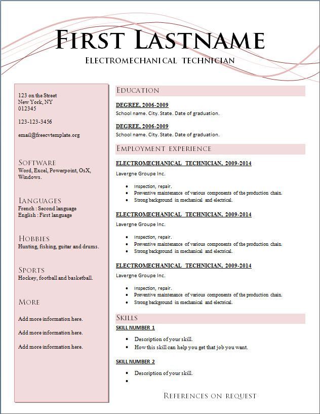 Stunning Design Ideas Current Resume Formats 12 Great Latest Cv - formatting a resume in word 2010