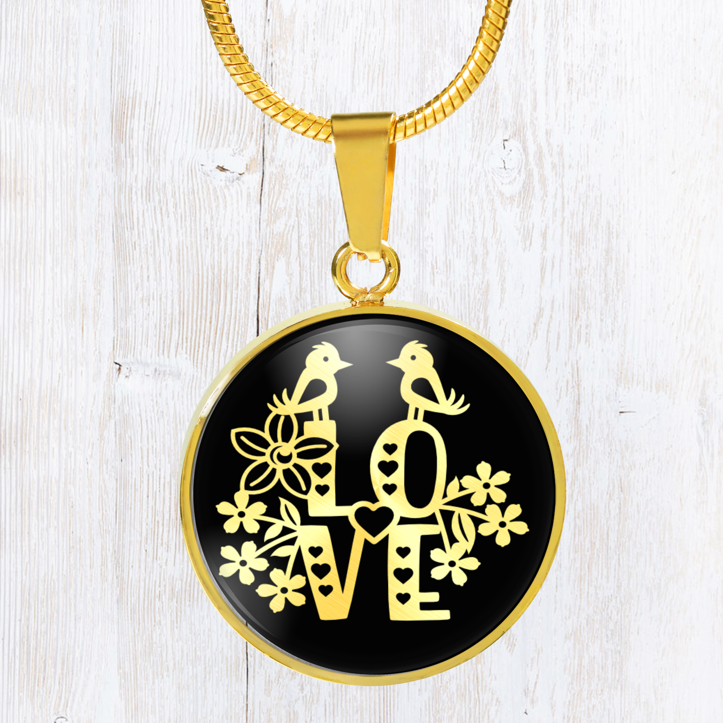 Love design with birds and flowers - beautiful stainless steel necklace  #design #art #giftguide #handmade #gift #birthday #gifting #giftideas #gifts #designtimegnc