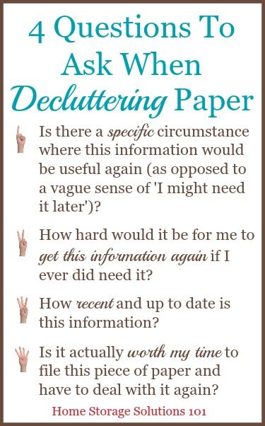 How To Declutter Your Piles Of Paper | Storage, Declutter and ...