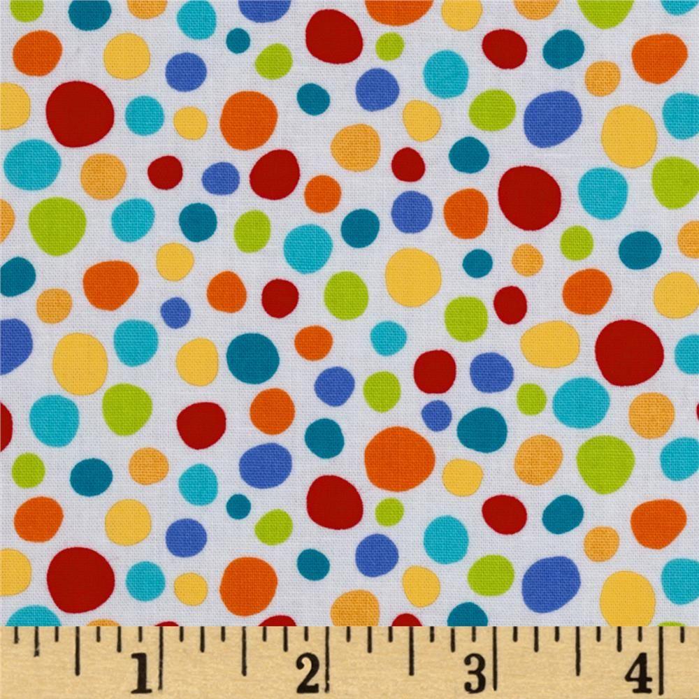 Michael Miller Pierres Famous Traveling Circus Little Spots Multi - Discount Designer Fabric - Fabric.com