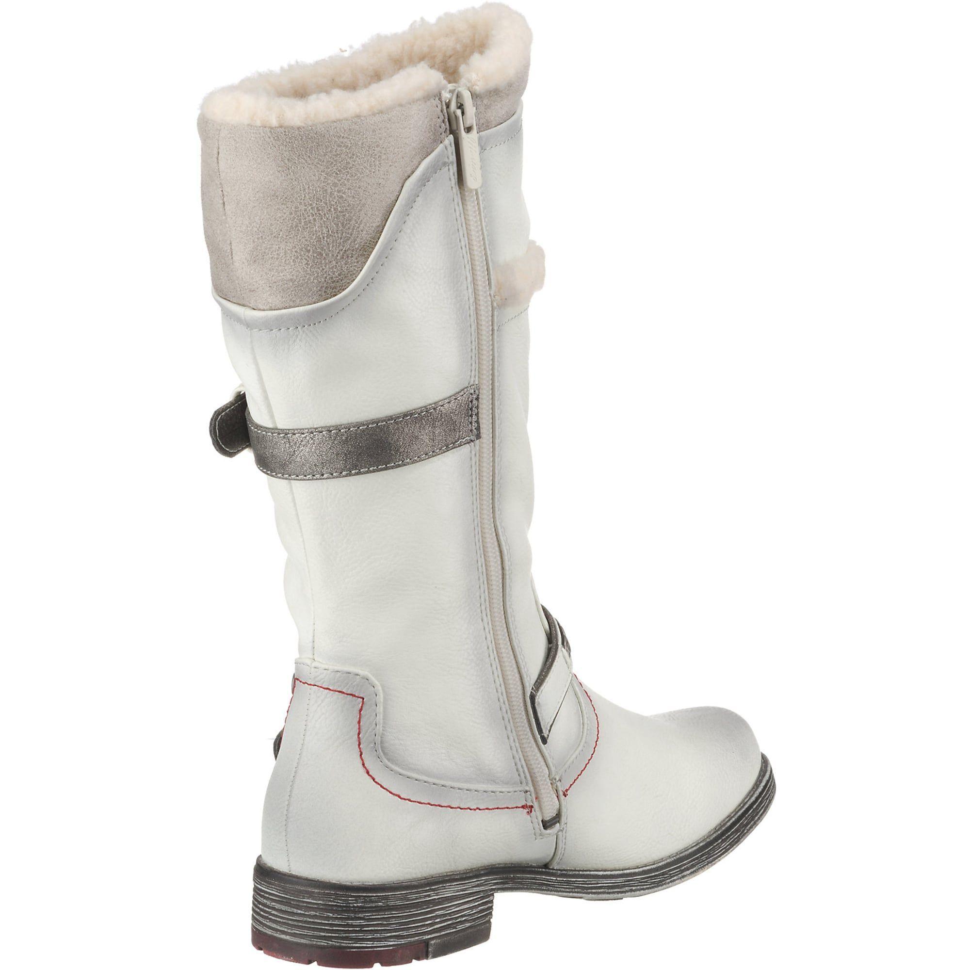 MUSTANG Winterstiefel Damen, weiß, Größe 40 | Boots, Ugg