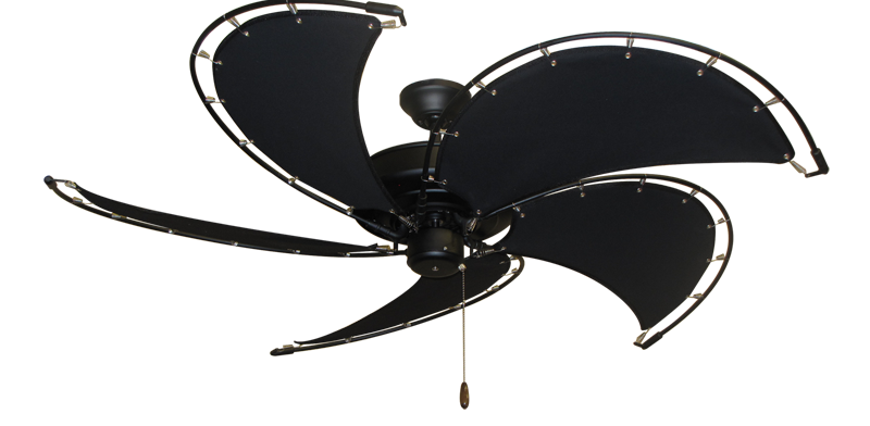 cool black ceiling fans. Raindance Matte Black Nautical Ceiling Fan W/52\ Cool Fans O