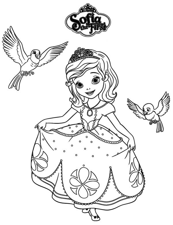 Princess Sofia And Robin And Mia In Sofia The First Coloring Page Netart Malvorlage Prinzessin Disney Prinzessin Malvorlagen Malvorlagen Fur Madchen