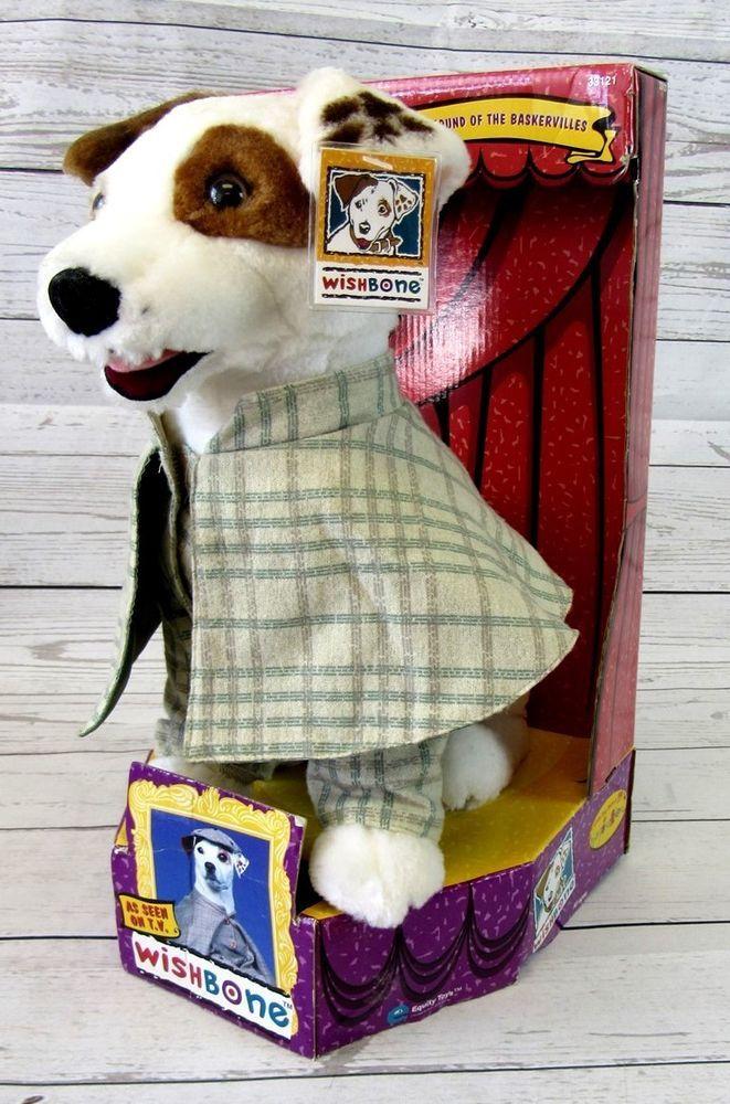 Wishbone Sherlock Holmes Plush Dog Box 1996 12 Inch Jack Russell