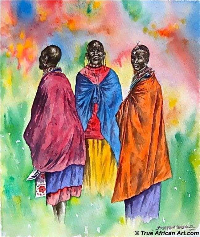 Maasai Art Paintings Maasai Life 10