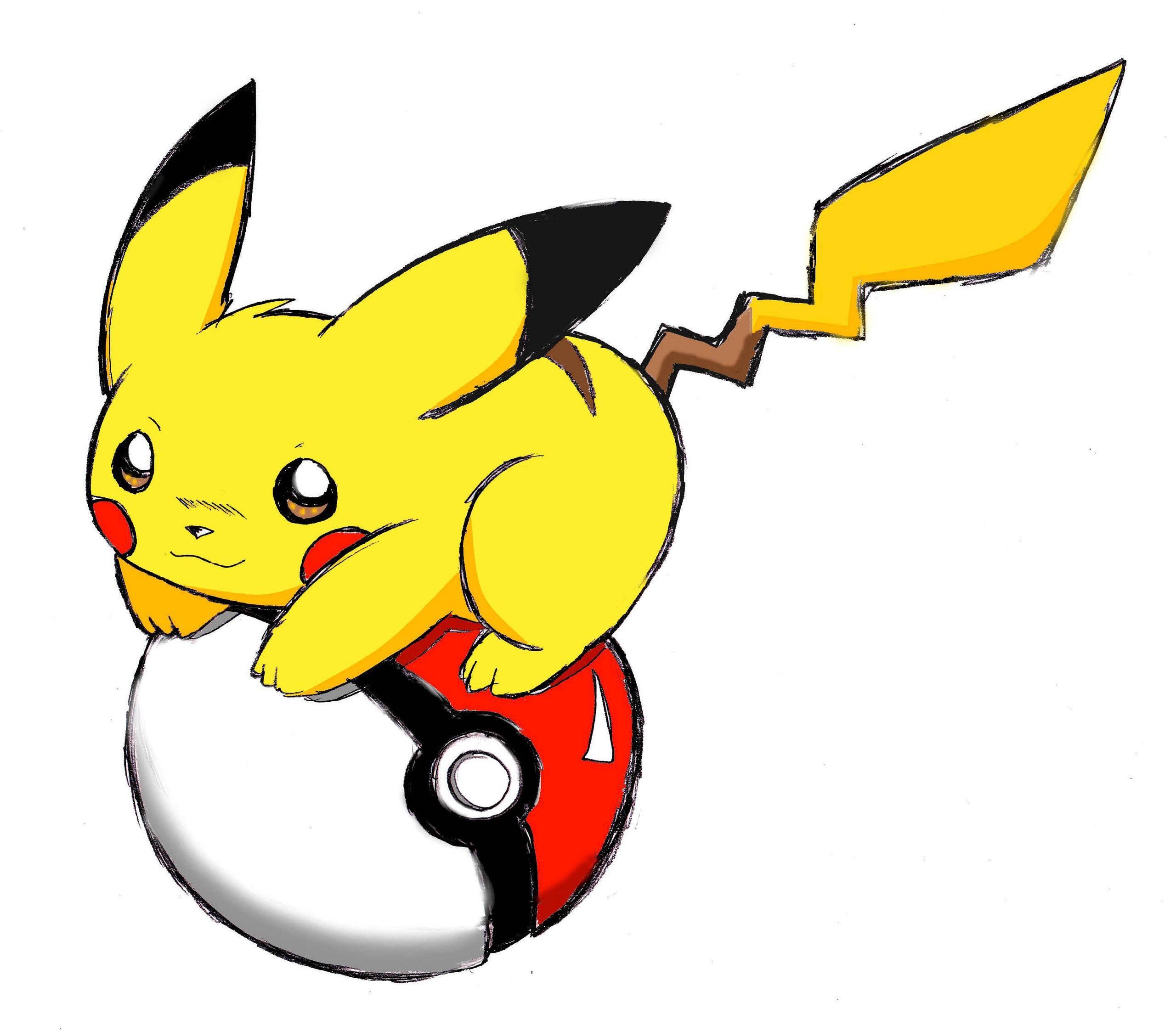 Pikachu With Pokeball Pika Pika Chu Pikachu