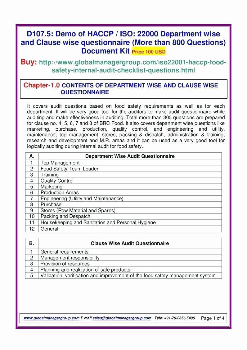 Internal Audit forms Template Unique Internal Audit