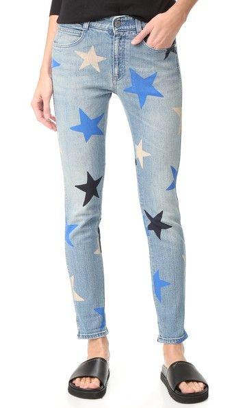 Printed multiclor stars boyfriend jeans Stella McCartney Choice Sale Online Outlet Clearance qTqAU3O