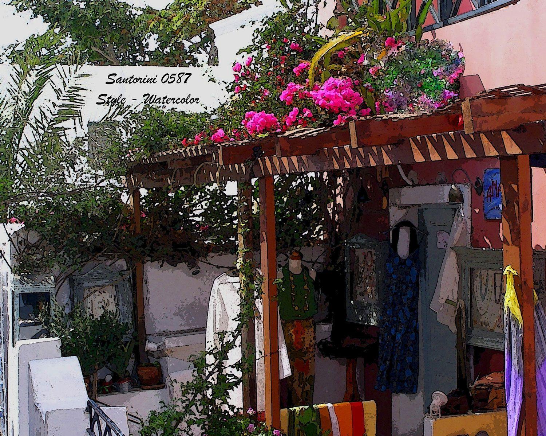 Santorini Landscape Scenery. $11.00, via Etsy.