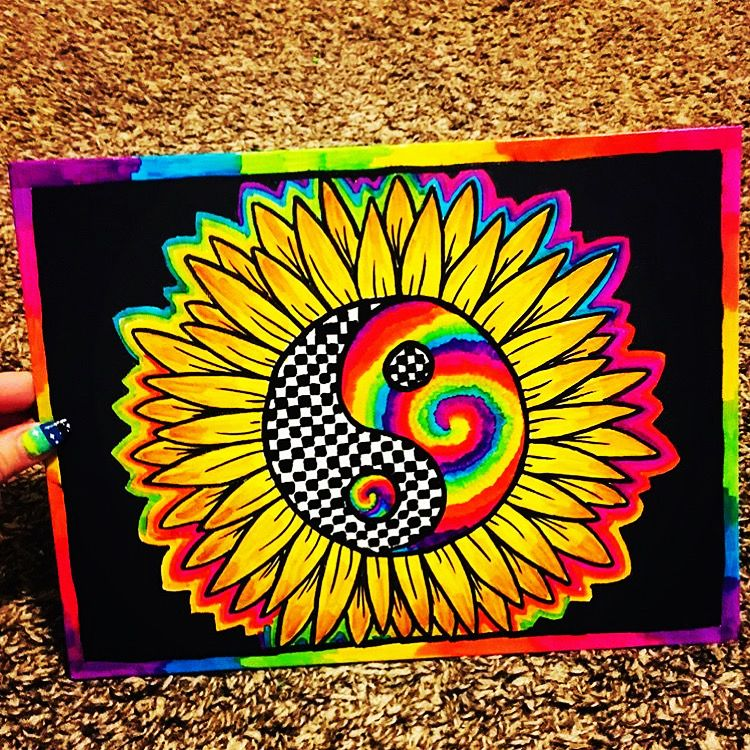 Available On Etsy Now Hippie Painting Trippy Painting Diy Art Painting