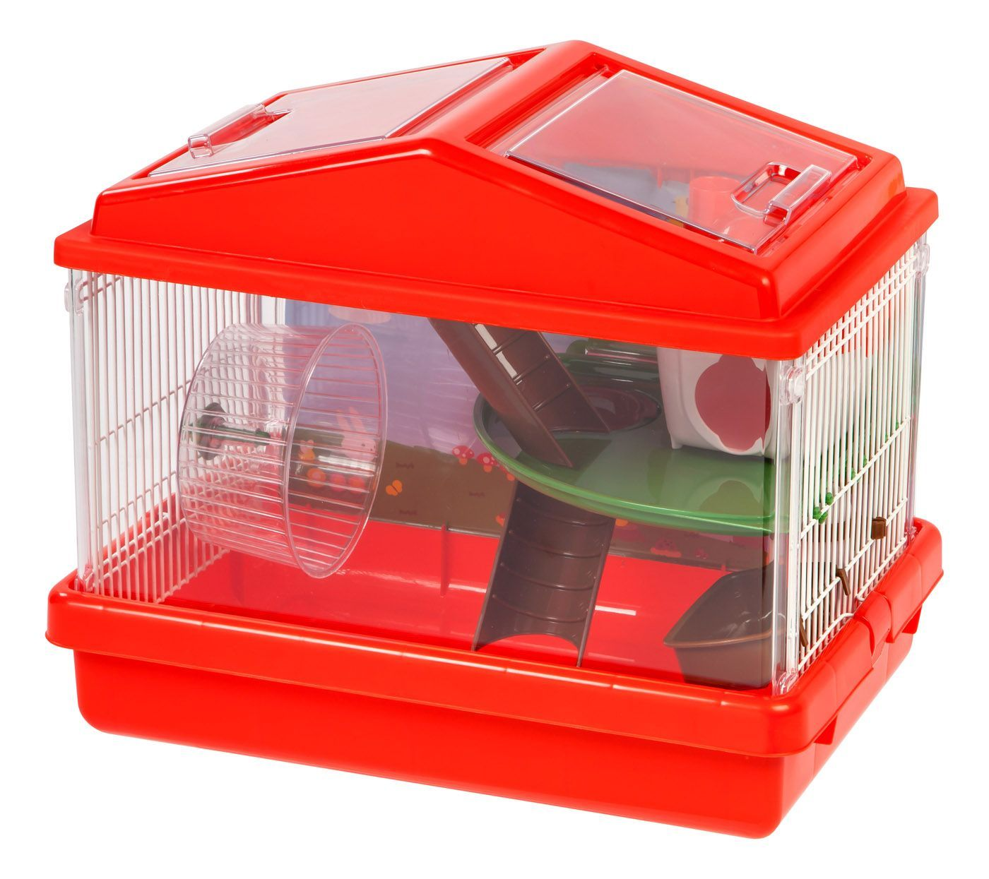 2 Level Hamster Cage Medium Red Cool Hamster Cages Hamster