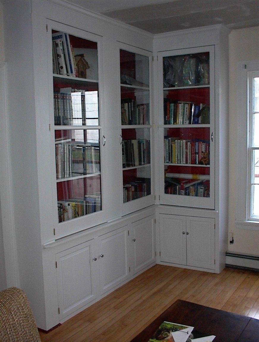 Corner Bookshelves With Glass Doors Bookcase With Glass Doors Glass Cabinet Doors Bookcase