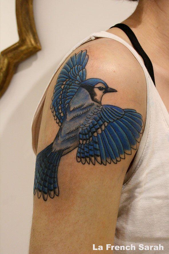Blue Jay Tattoo Tatouage Geai Bleu Owl Tattoo Bluebird
