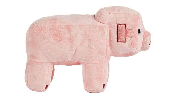 Minecraft 12-inch Pig Plush side view
