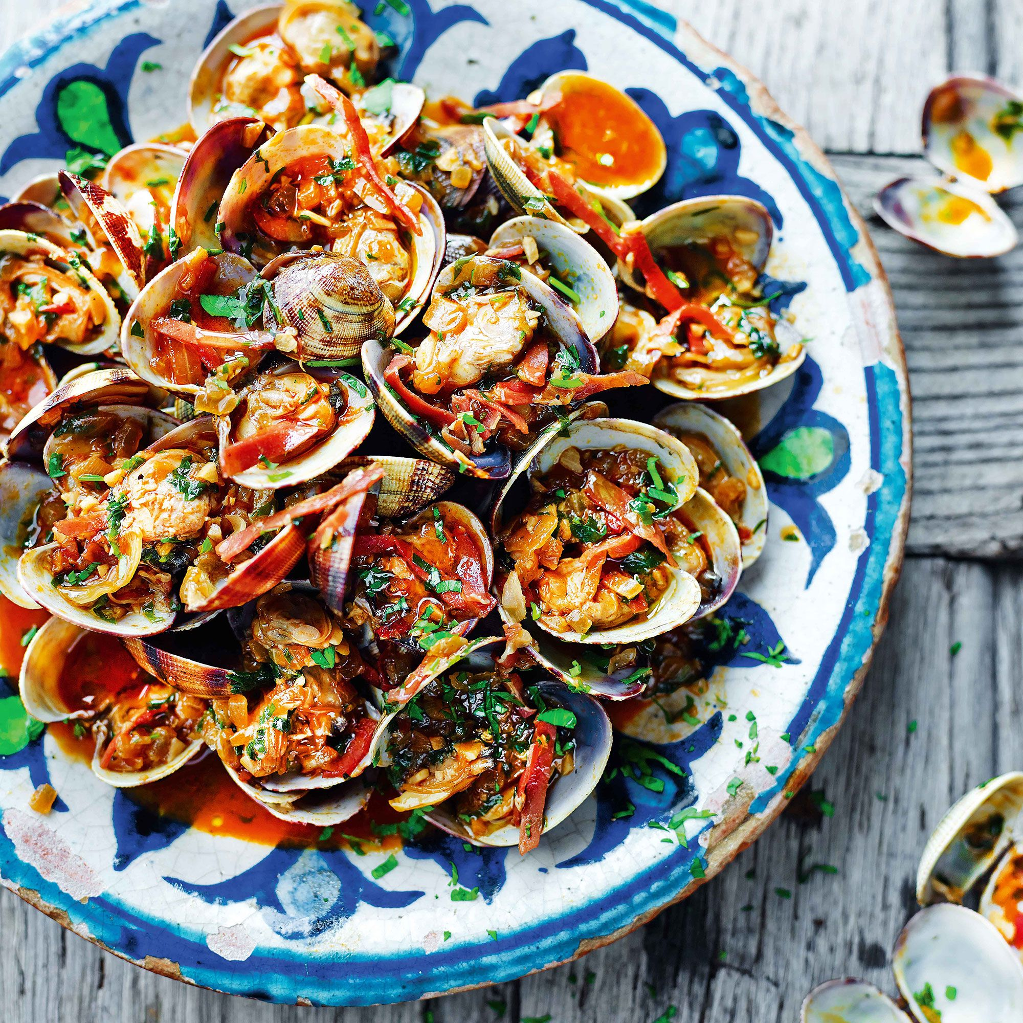 Clams garlic pimenton jamon and sherry what could be more
