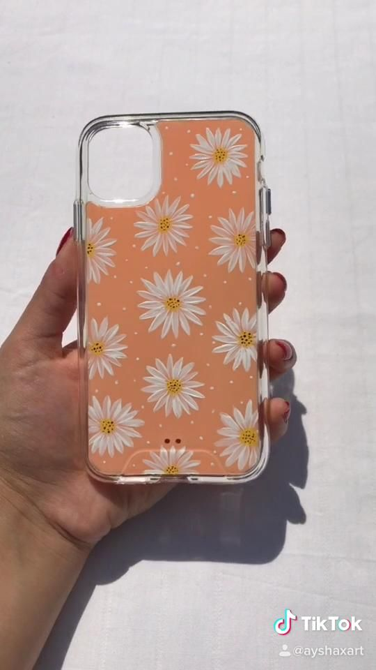 Hand Made Phone Case for iPhone Art on Phone Custom Phone Case Illustration Personalized Resine Case Hand Painted Dandelion Phone Case