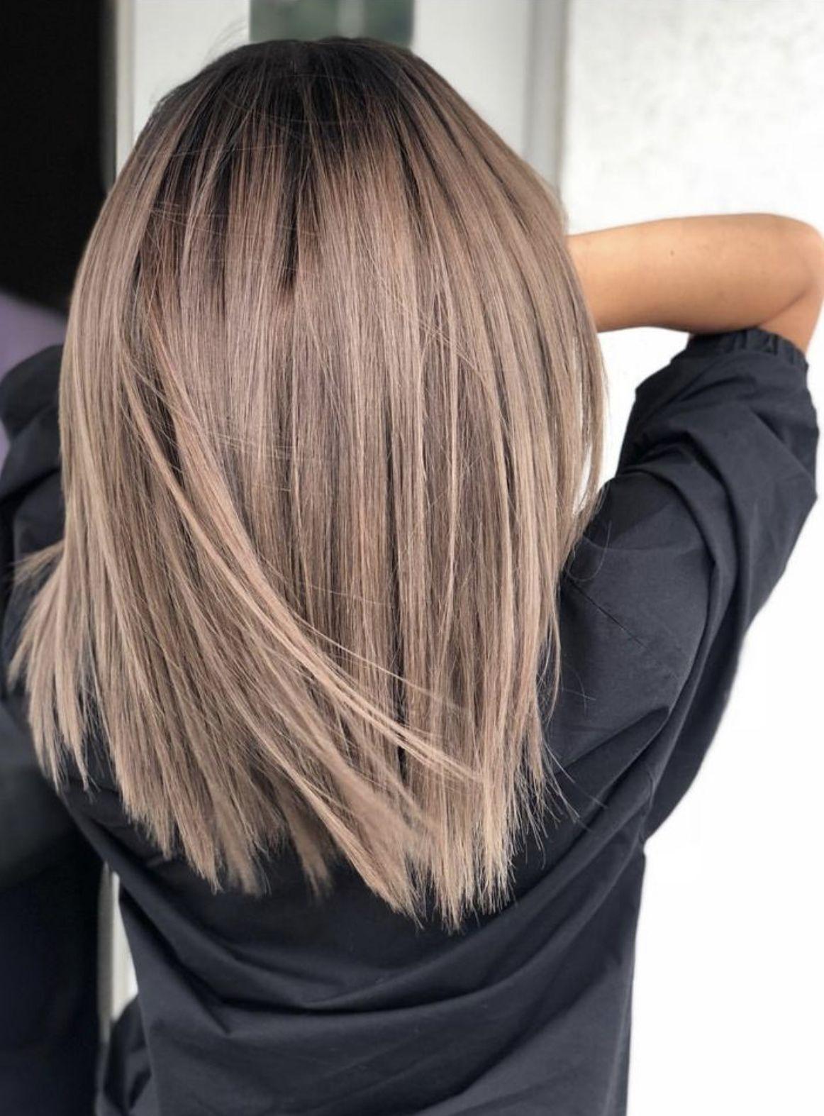 Pin By Lena Kromer On Frisur Trendy Hair Color Straight Bob Haircut Brunette Hair Color
