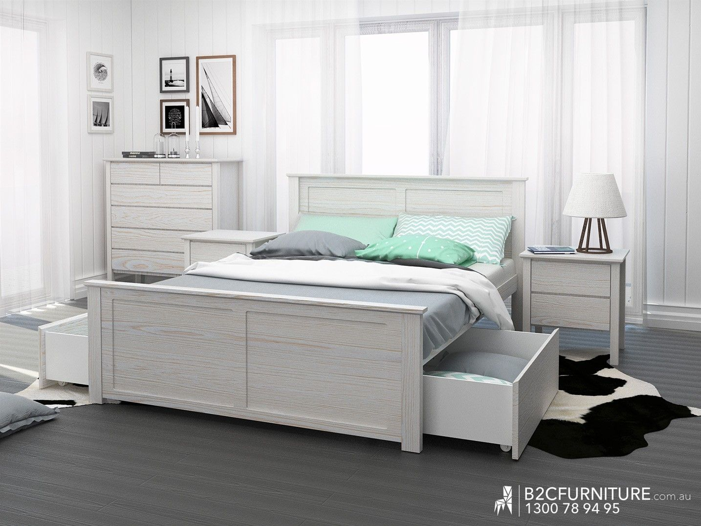 Whitewash Queen Bed Frame White Bed Frame Bed Frame Queen Bed Frame