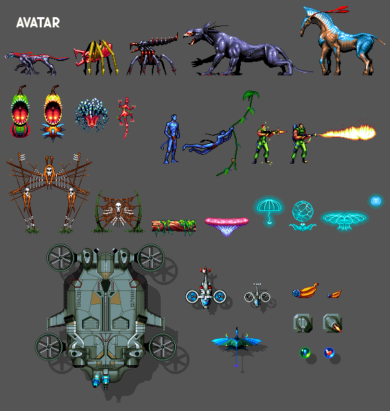 Avatar Games: Avatar The Game Sprites Icon, Pixel